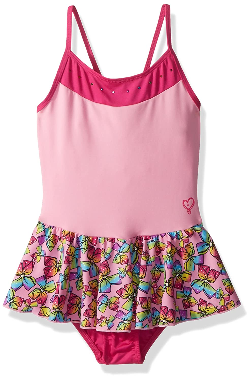 Jojo Siwa By Danskin Big Girls' Rainbow Bows Dance Dress