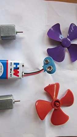 Generic KG162 Motor 4 5-5V DC Motor for Toy, Project Plus Mini Fan Blade (2  Pieces Color May Vary)