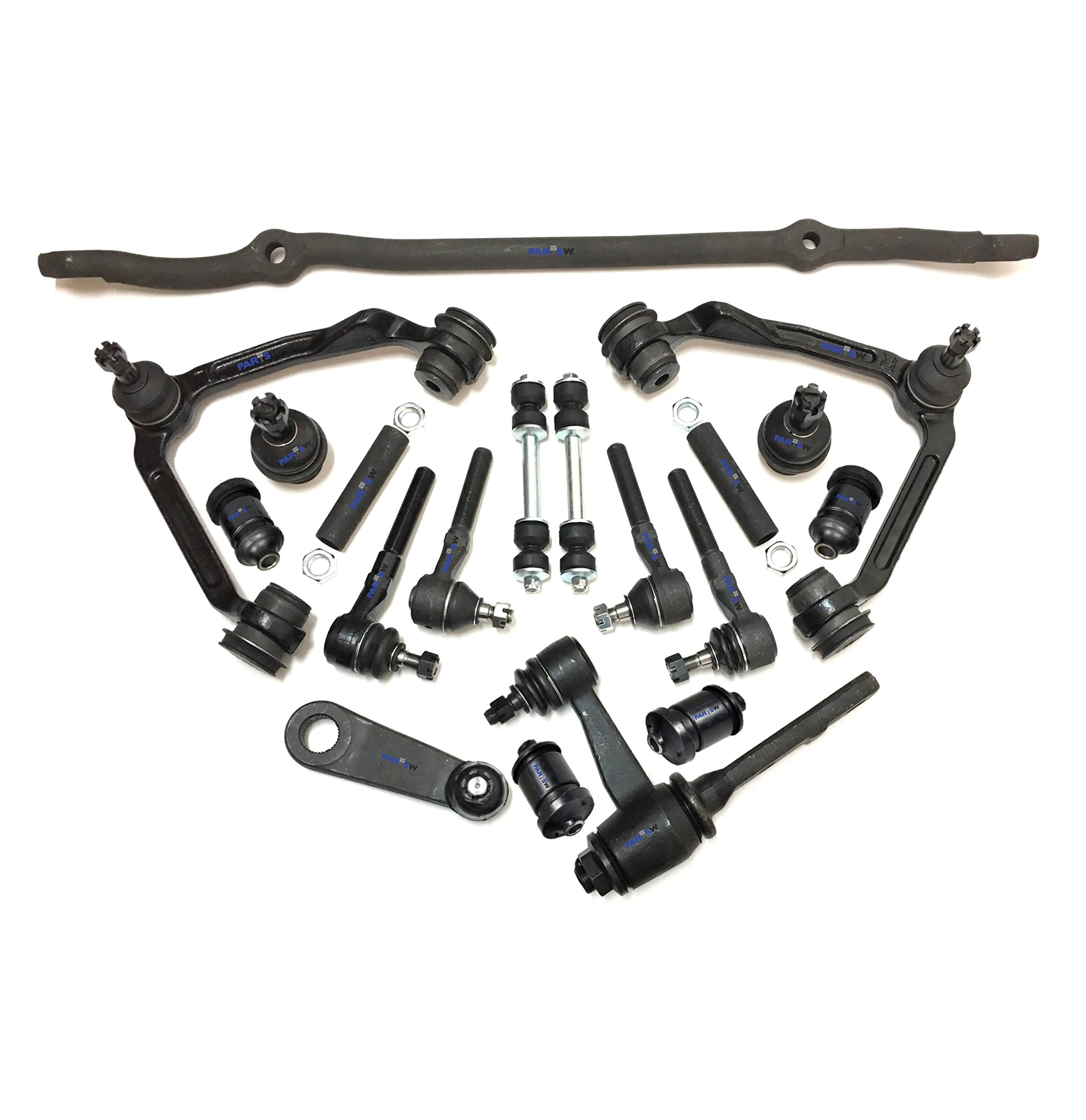 10 Pc Suspension Kit for Ford Expedition Control Arms Inner /& Outer Tie Rod End