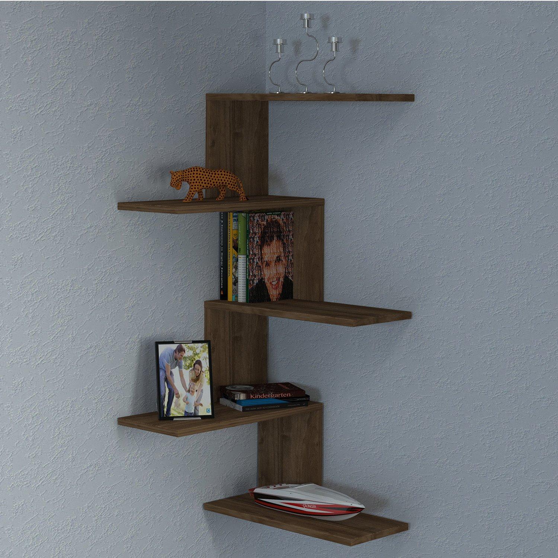 Ada Home Décor DKRW1192 Winston Wall Shelf, 20'' x 43'' x 9'' , Walnut