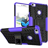 Heartly Xiaomi Mi Max Back Cover Kick Stand Rugged Shockproof Tough Hybrid Armor Dual Layer Bumper Case - Frame Purple