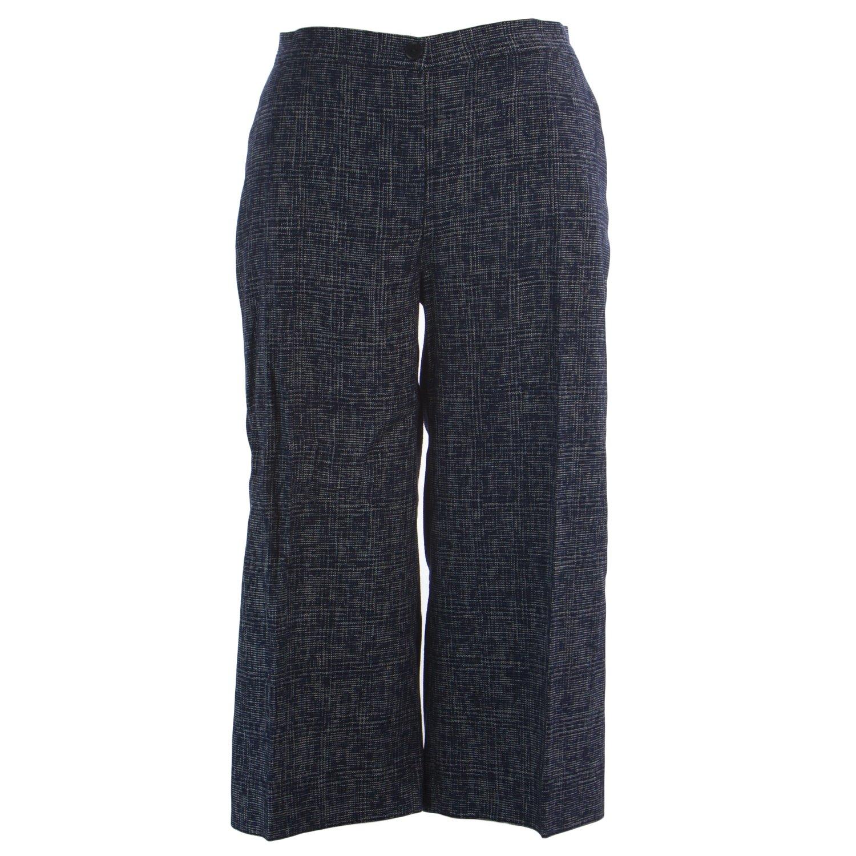Marina Rinaldi Women's Renato Metallic Stitch Pants 12W / 21 Navy