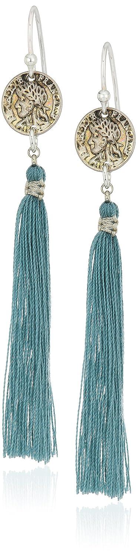Chan Luu Smoke Blue Tassel Drop Earrings ESZ-4899