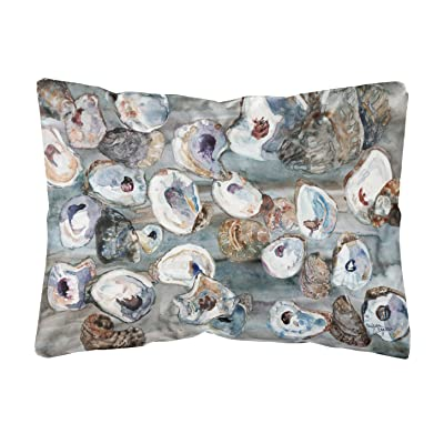 Caroline's Treasures 8957PW1216 Bunch of Oysters Canvas Fabric Decorative Pillow, 12H x16W, Multicolor : Garden & Outdoor