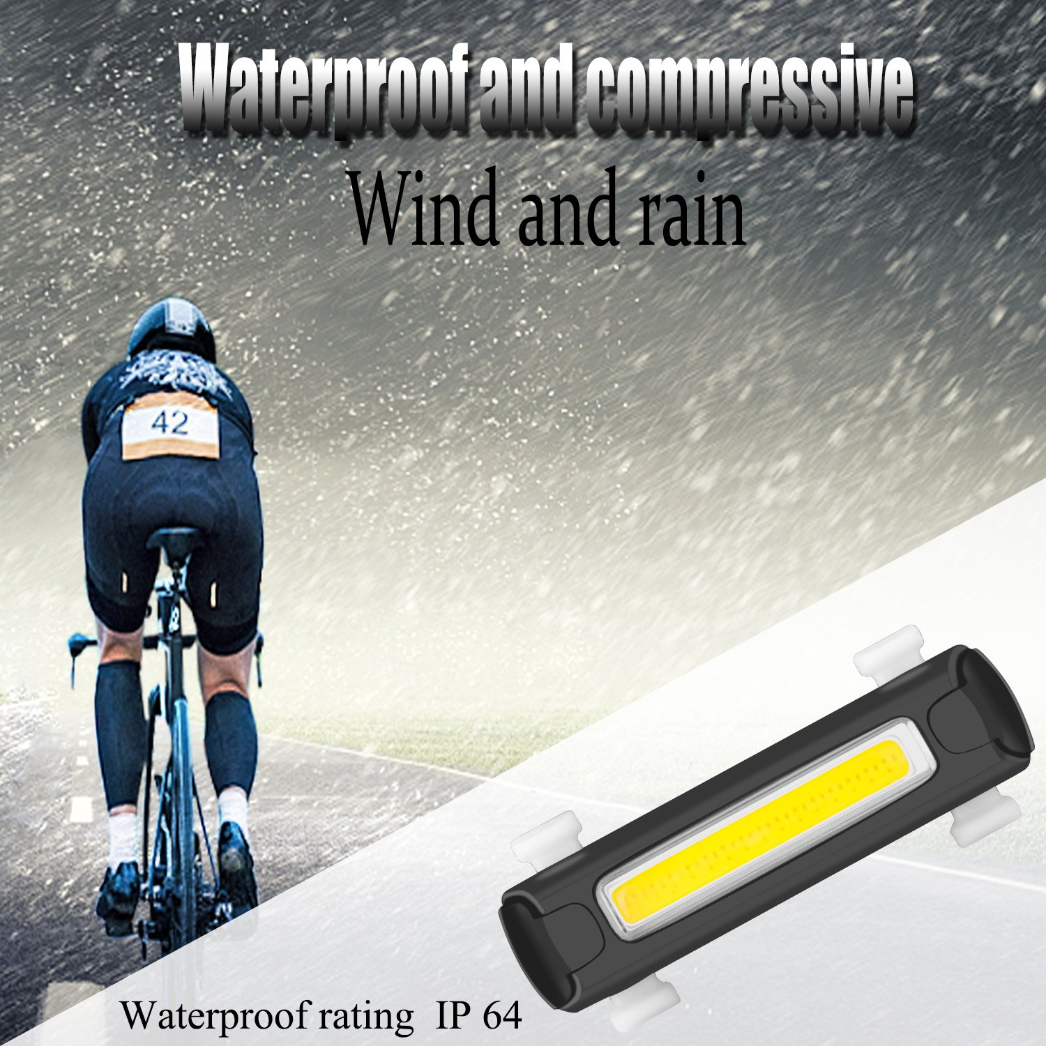 Red or White 16 LEDs 4 Modes Fits On Any Road Bikes 1 Pack Helmets Helmets USB Rechargeable Waterproof Bicycle Light Cycling Safety Flashlight Venoro Ultra Bright Bike Light Set Front and Rear