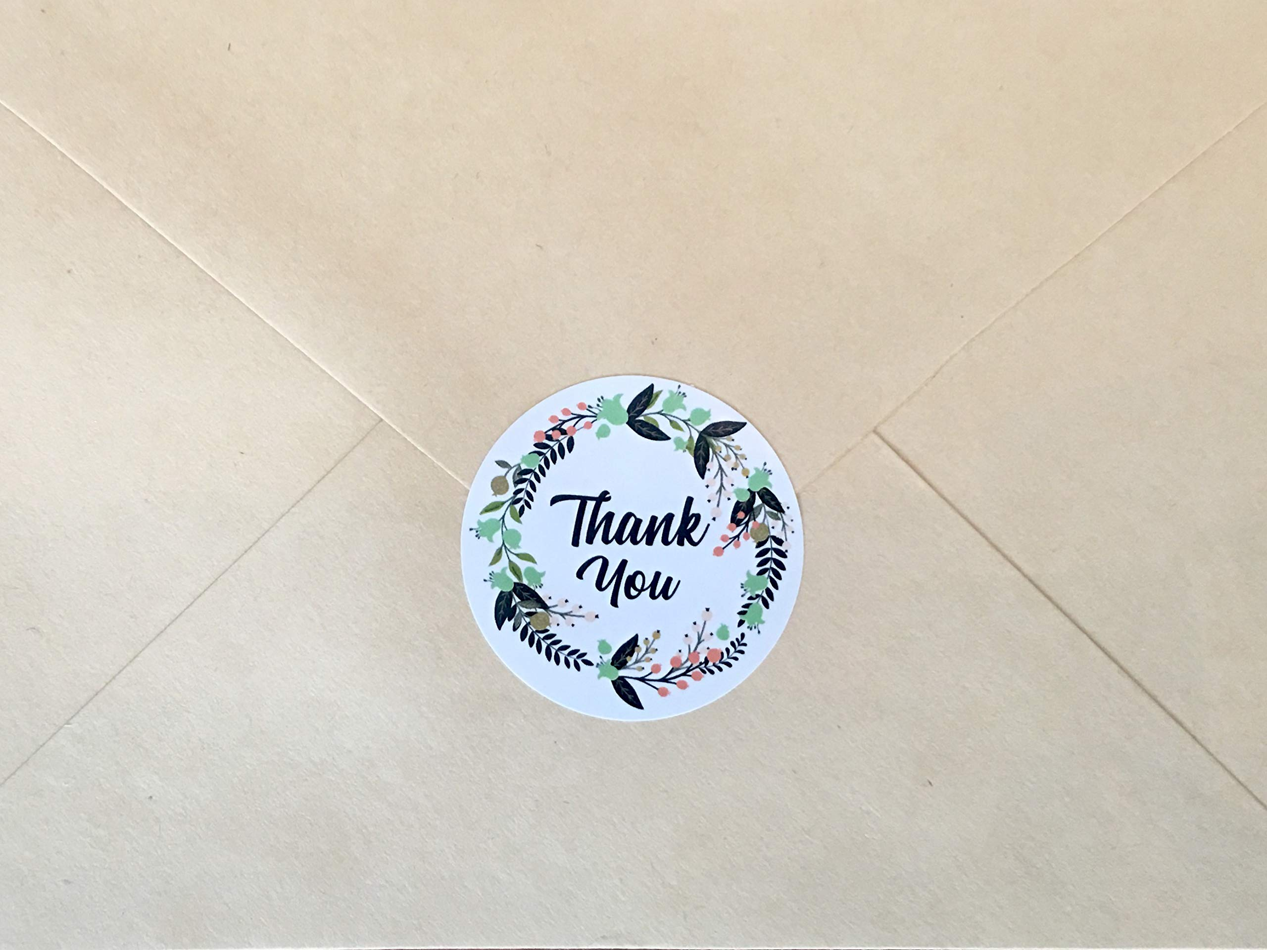 Ivy Paper Co Modern Floral Thank You Stickers | Roll of 1000 | 1.5'' Flower Envelope Sealers | Beautiful Circle Labels for Business, Gifts, Bridal, Thank You Cards Notes | Boho Gift Tags |Cute Stickers by Ivy Paper Co (Image #4)