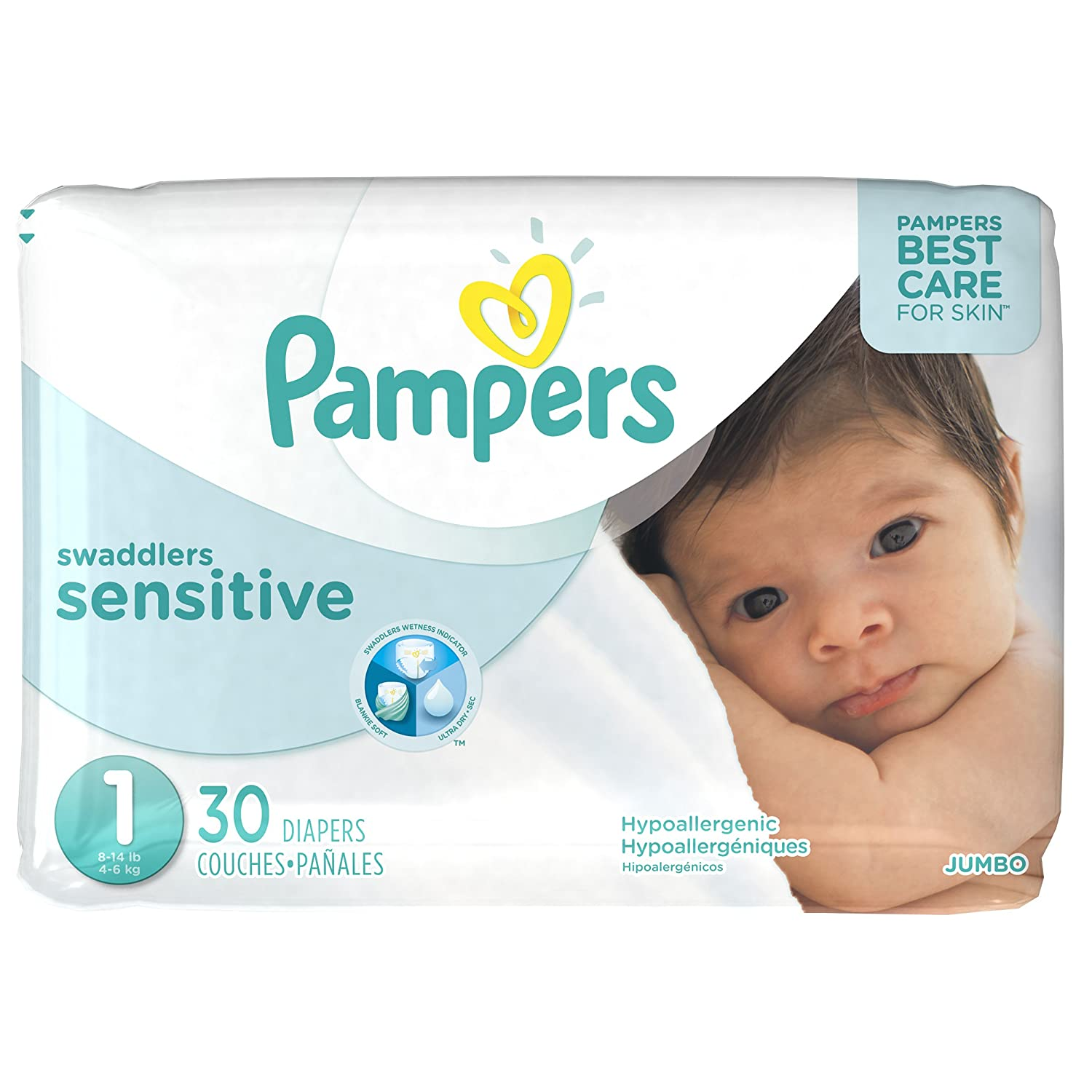 Amazon.com: Swaddlers Sensitive Newborn Diapers Size 1 30 count: Prime Pantry