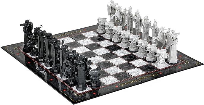 Réplica de juego de ajedrez de Harry Potter de La piedra filosofal, réplica de las figuras de ajedrez 5-11,5cm tablero 31x31cm producto oficial plástico: Amazon.es: Juguetes y juegos