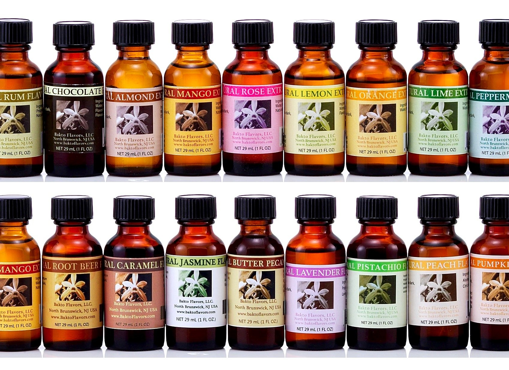 Bakto Flavors - Natural Flavors & Extracts - PICK YOUR OWN FLAVORS - Box of 6 - PLEASE SCROLL DOWN TO''Product Description'' PICK THE FLAVORS AND CONTACT SELLER by Bakto Flavors Select Flavor Collection (Image #1)