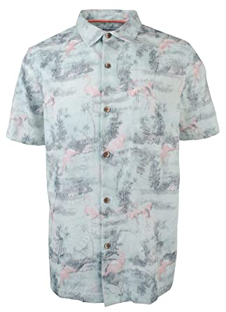 771d7d3c60 Tommy Bahama Flamingo Fade Silk Blend Camp Shirt at Amazon Men s Clothing  store