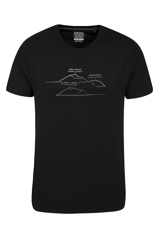 de60a303ec Mountain Warehouse Camiseta Hombre Manga Corta Traspirable Estampado  Resistente ...