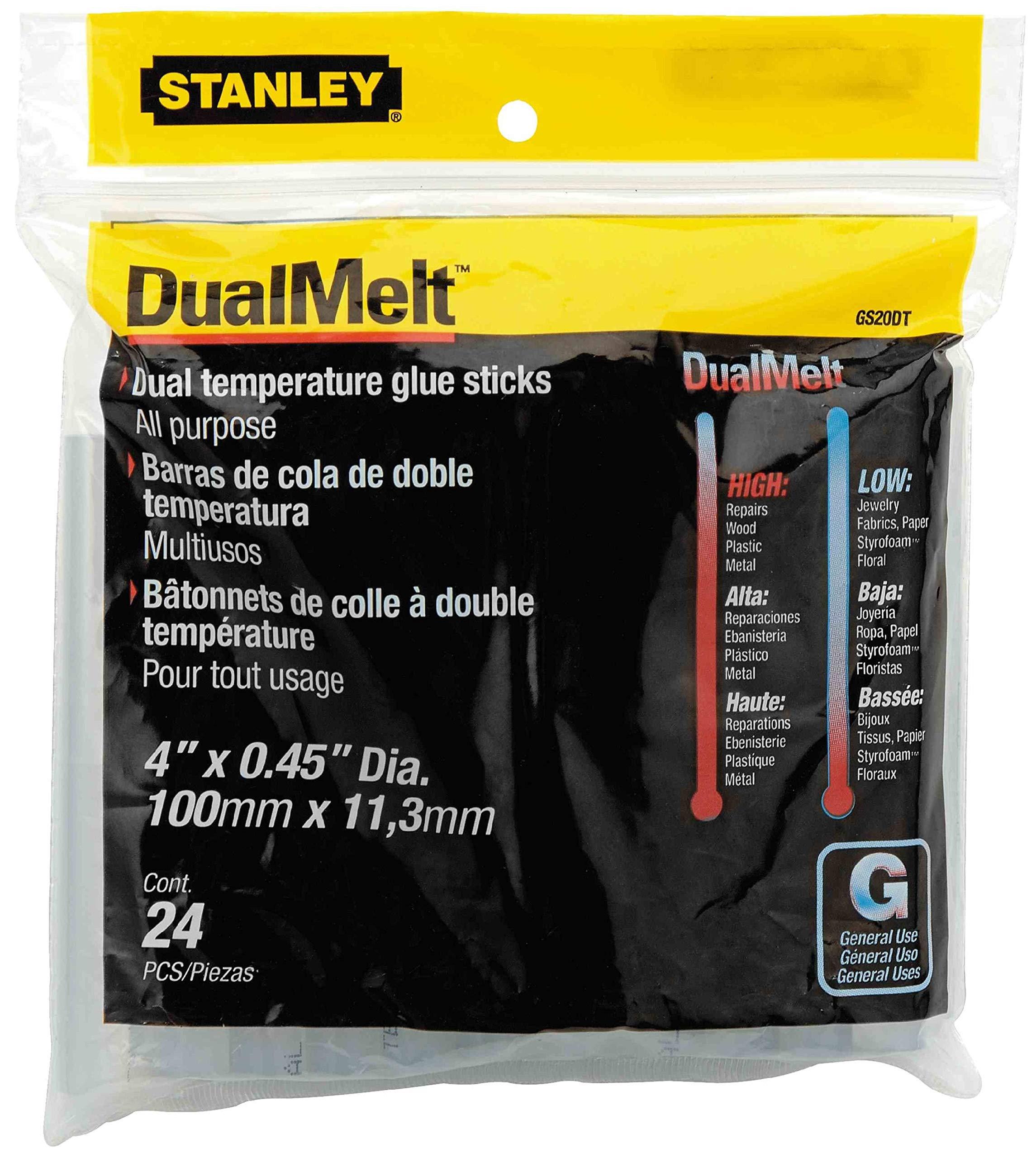 Stanley Bostitch Dual Temperature Glue Sticks, 4 In Stick, 24/Pack, Case of 5 Packs by BOSTITCH