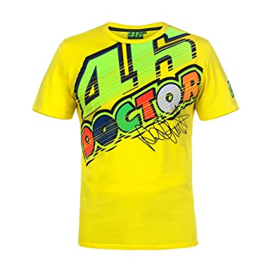 f58f3ba0 VR46 Valentino Rossi MotoGP Cotton Valey 'The Doctor' T-Shirt TEE - Yellow