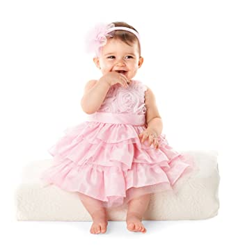 04cb84ded5e Amazon.com  Mud Pie Baby Girls  Rosette Layered Dress  Infant And Toddler  Special Occasion Dresses  Clothing