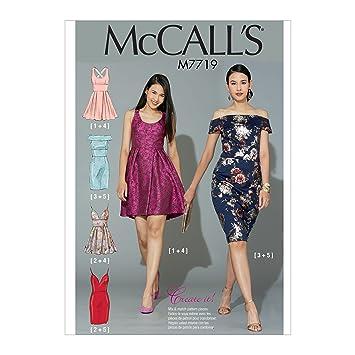 Mehrfarbig 17/x 0,5/x 0,07/cm McCall s Patterns Oberteile Damen Schnittmuster Tissue