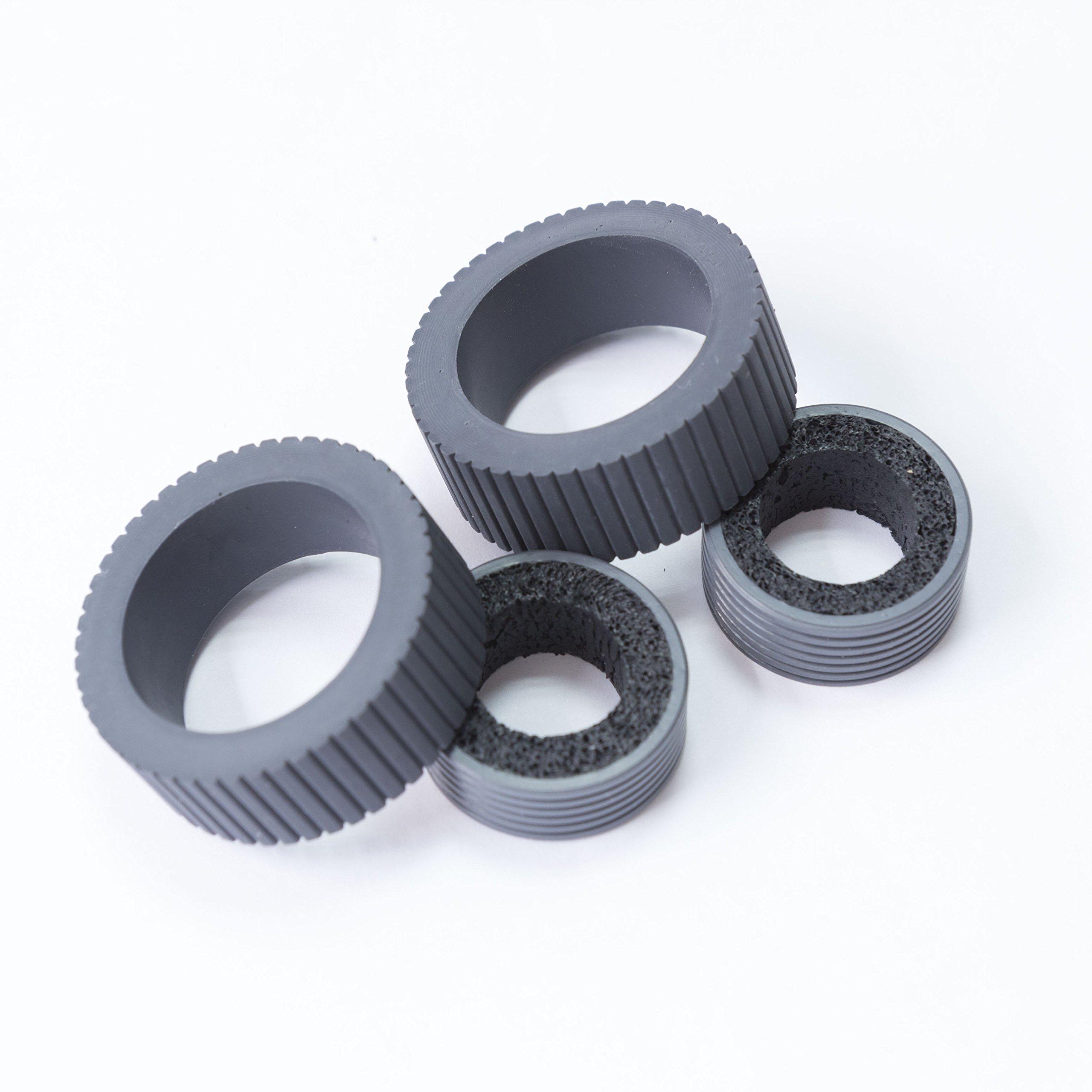 YANZEO PA03540-0001 PA03540-0002 Scanner Brake and Pick Roller Tire Set For Fujistu 6130 FI-6140 FI-6240 FI-6130 FI-6230 FI-6130Z IX500