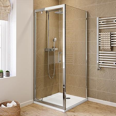 Ibathuk 800 X 800 Pivot Hinge 6mm Glass Shower Enclosure Reversible