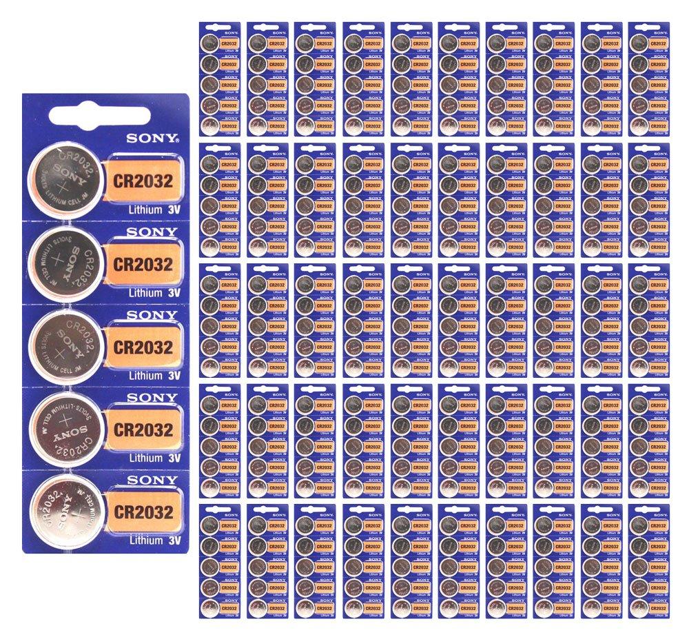 500x Sony CR2032 Batteries 3v Lithium Coin Battery Bulk Wholesale Lot FRESH