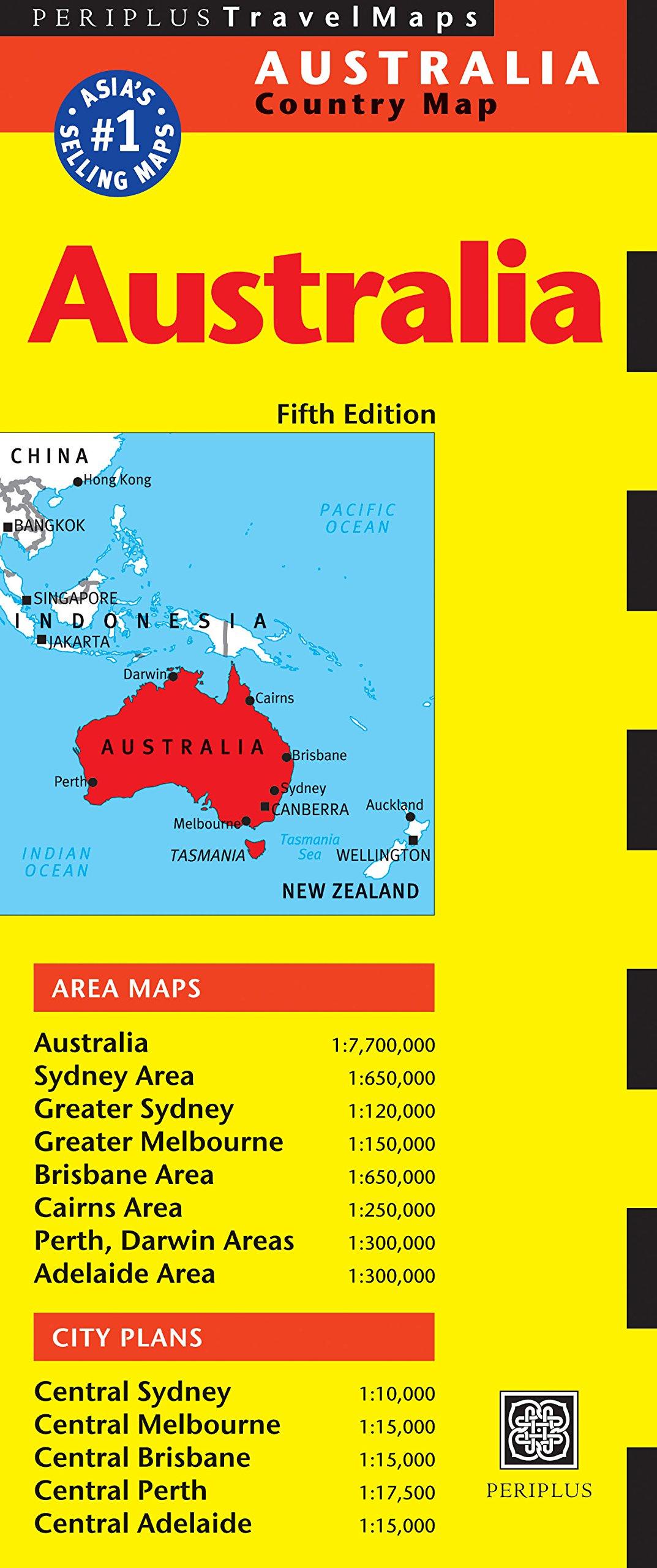Australia Major Cities Map.Australia Travel Map Fifth Edition Periplus Travel Maps Periplus