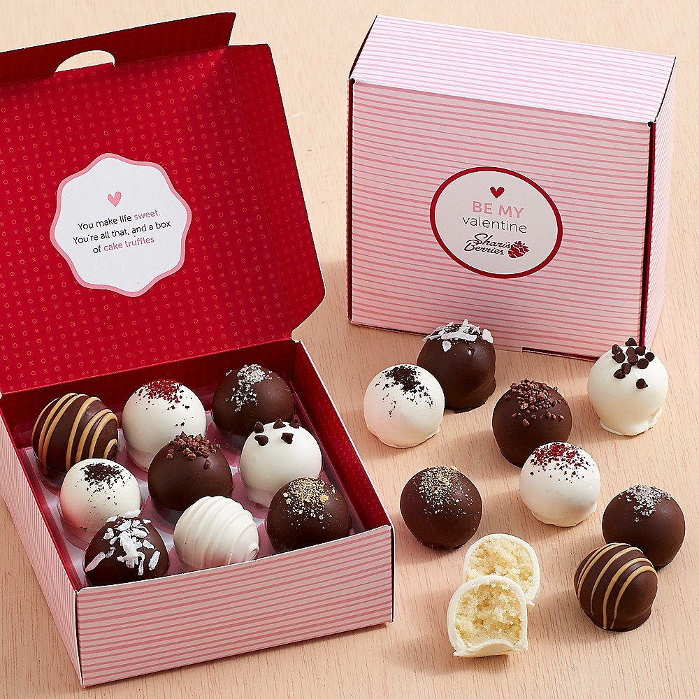 Amazon.com : Shari\'s Berries - Valentine\'s Cake Truffles - 18 Piece ...