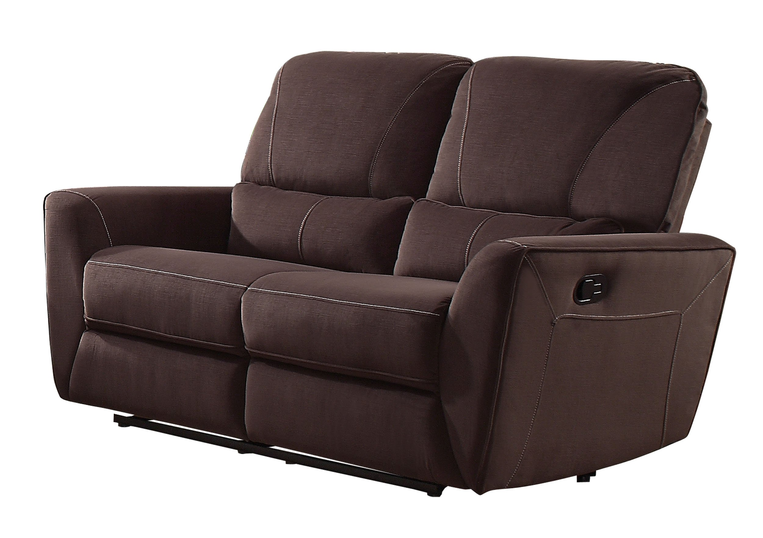 Homelegance Dowling 63'' Fabric Upholstered Reclining Loveseat, Brown