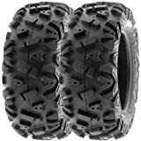 SunF 25x10-12 25x10x12 ATV UTV Tires 6 PR Tubeless A033 POWER I [Set of 2]