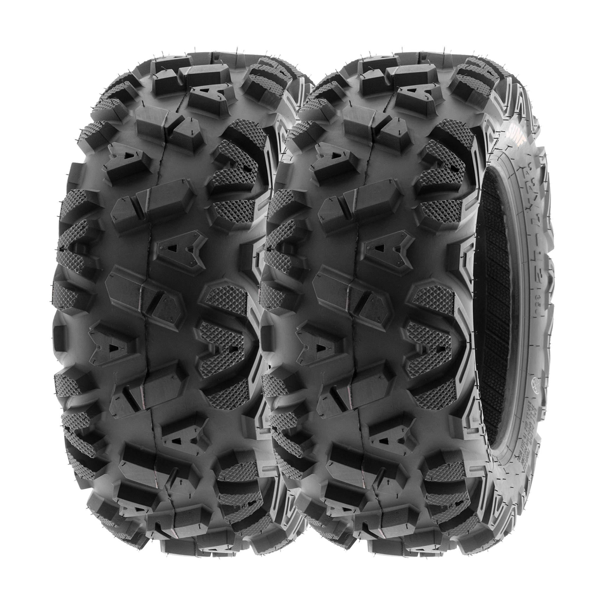 SunF 25x8-11 25x8x11 ATV UTV A/T Replacement Race 6 PR Tubeless Tires A033 POWER I, [Set of 2]