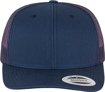 45bbe5abead489 Flexfit Snapback Unisex Baseball-Mütze   Trucker Kappe Mesh Basecap, Blau  (Marine)