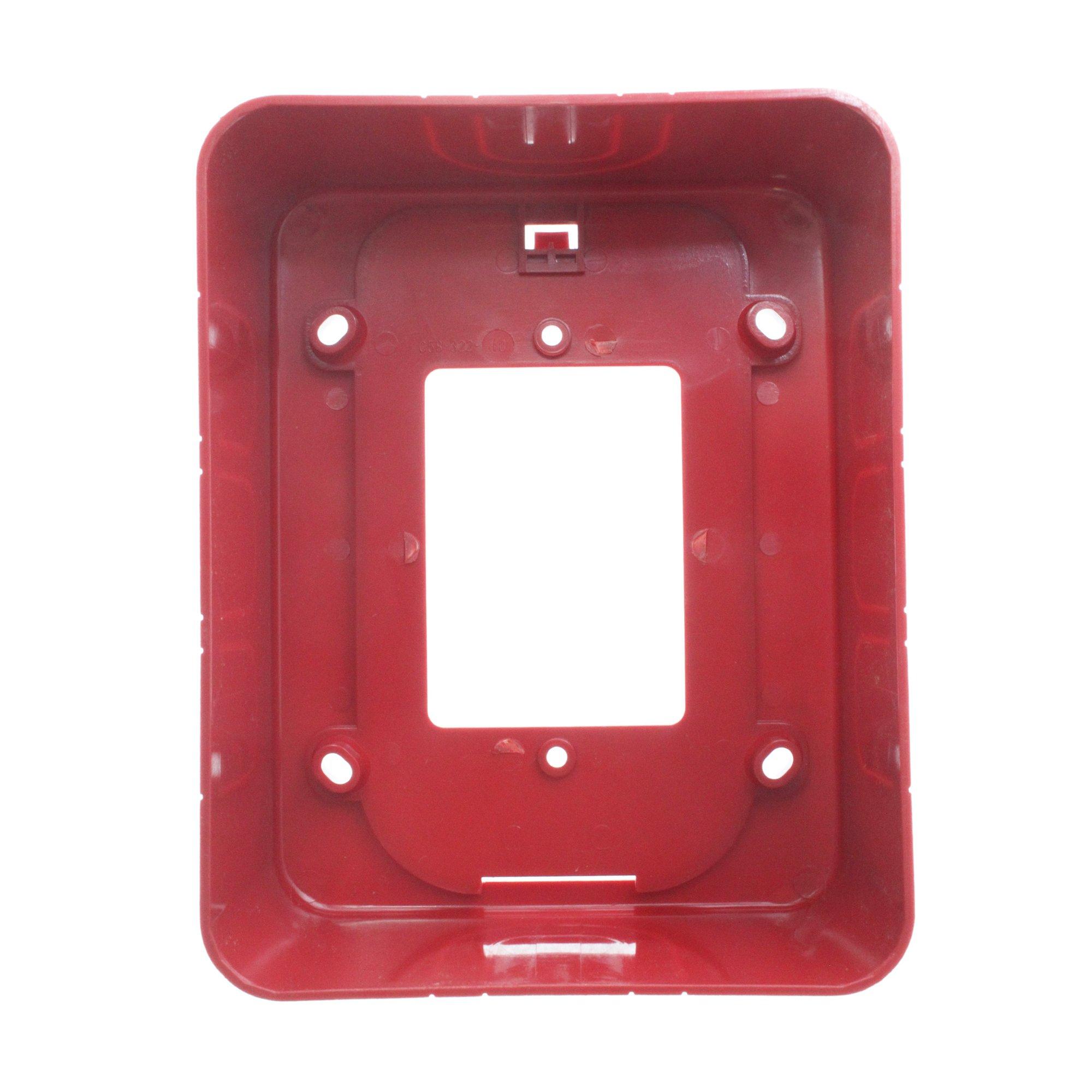 System Sensor BBS SpectrAlert Advance Alarm Wall Mount Back Box Skirt, Red by System Sensor (Image #3)