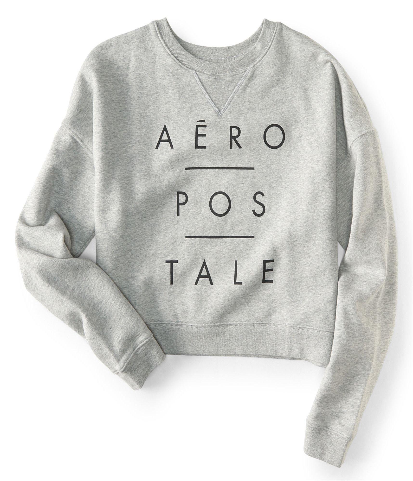 Aeropostale Womens Logo Sweatshirt Grey S - Juniors by Aeropostale (Image #1)