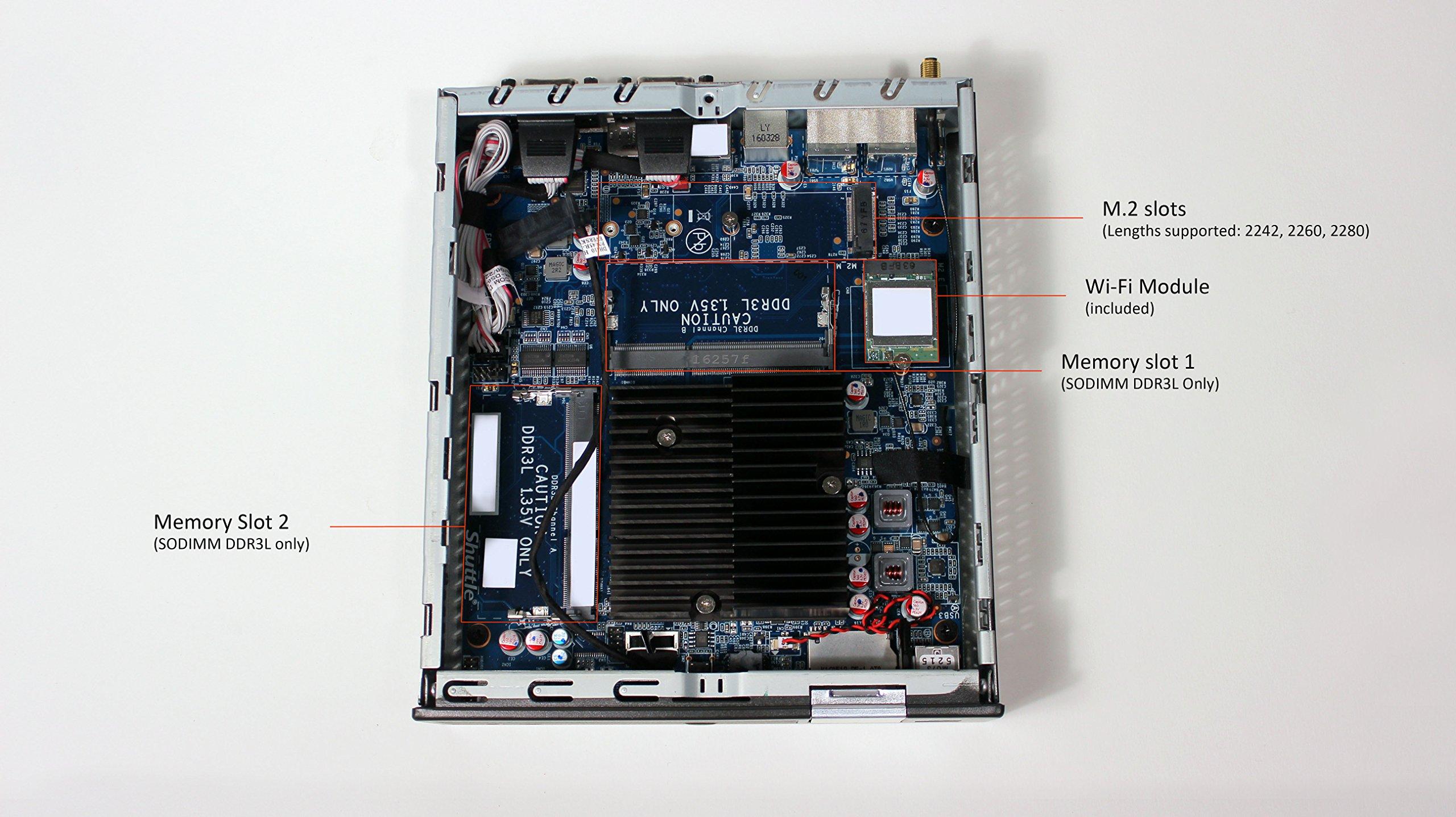 Shuttle XPC Slim DX30, Intel Apollolake Celeron J3355, Gigabit LAN, Dual COM Port, Fanless Design, DDR3L SODIMM Max 16GB by Shuttle (Image #5)