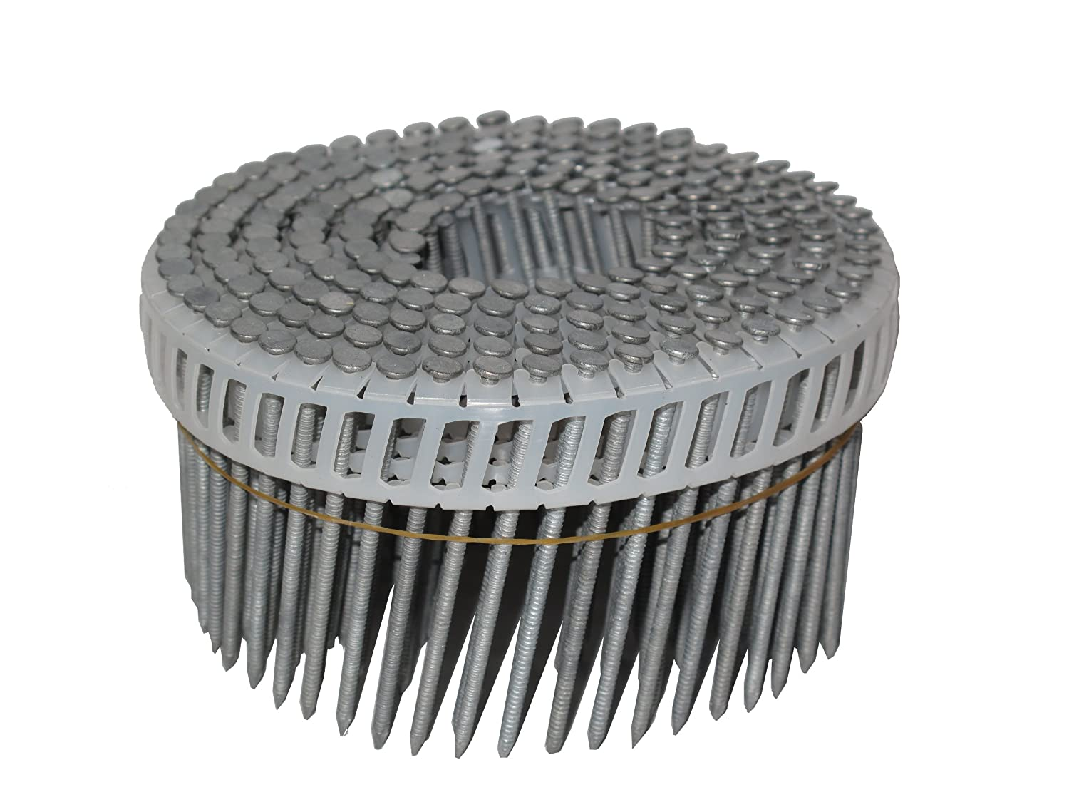 Simpson Swan Secure S13A250IPBP 2-1/2-Inch by 0.095 Ring Shank Insert Plastic Collation T-304 Stainless Steel Coil Siding Nails, 600 per pack