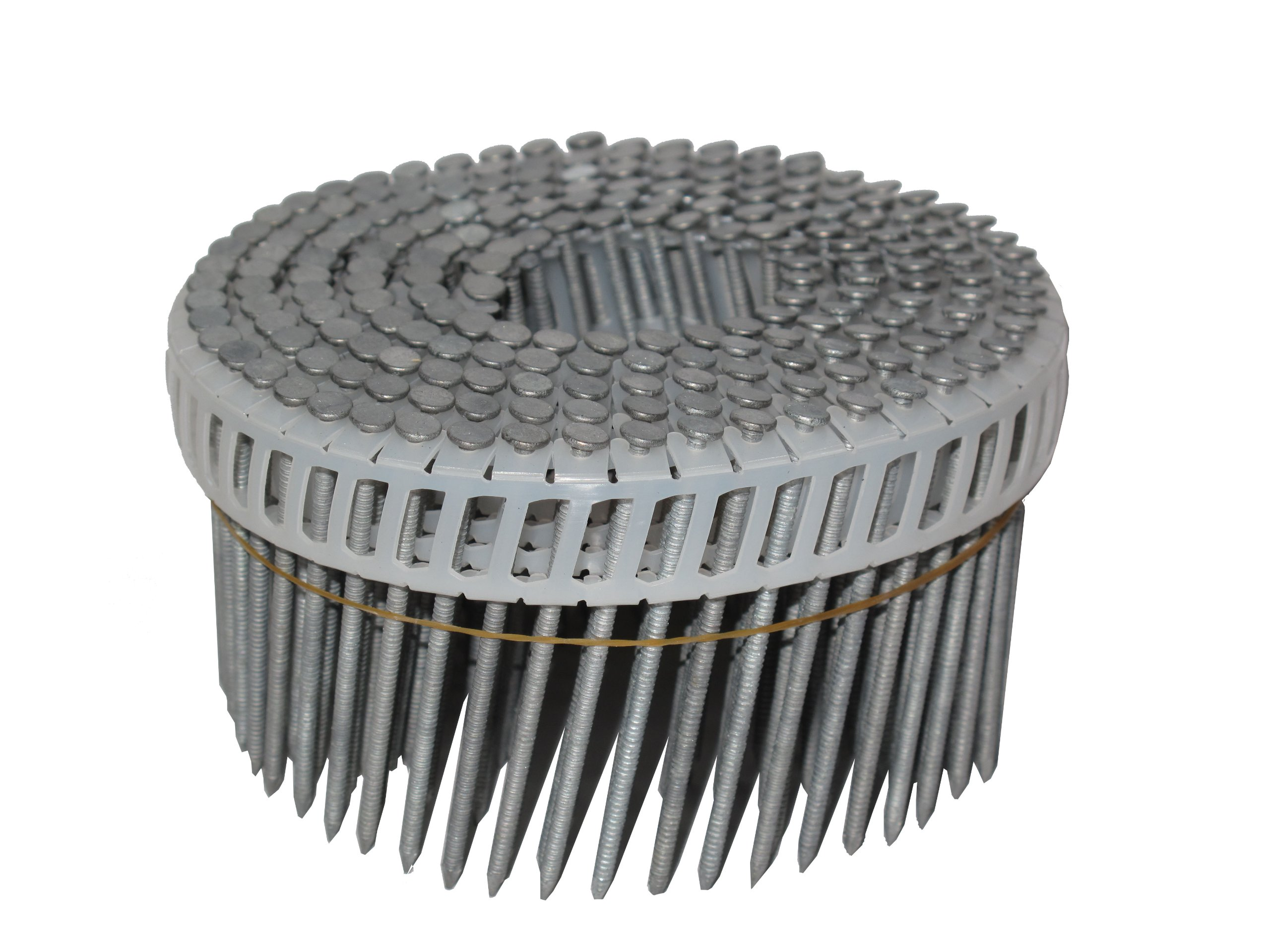 Simpson Swan Secure S13A250IPWBP 2-1/2-Inch by 0.090 Ring Shank Insert Plastic Collation 15-Degree White Head T-304 Stainless Steel Coil Siding Nails