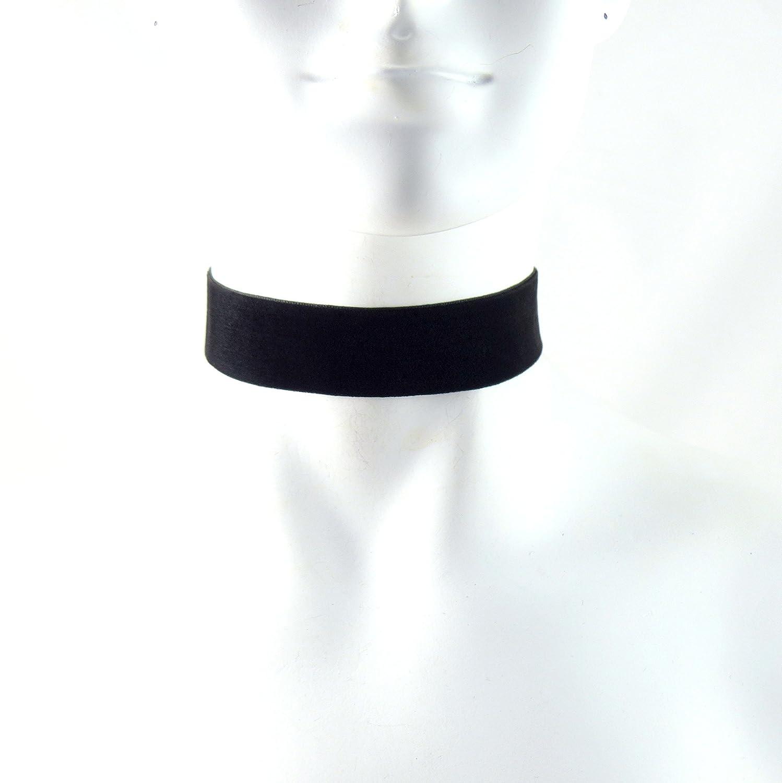 Arthlin 1'' Wide Black Velvet Choker Necklace for Women, Made in the USA