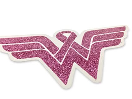 Wonder Woman Breast Cancer Awareness Decal. Show your support and strenght  with this Beautiful Glitter 7792a2b5df9f