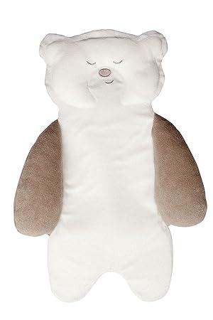 Tineo, Apoyo a la hora de dormir en forma de oso, blanco (color crudo): Amazon.es: Bebé