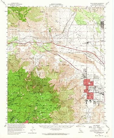 Map Of California Showing Palm Springs.Amazon Com Yellowmaps Palm Springs Ca Topo Map 1 62500 Scale 15