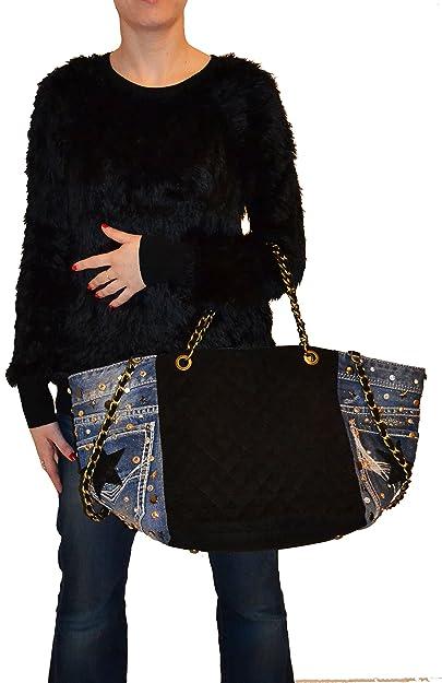 Millennium Star Diamond denim black borsa da donna in