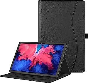 "FINTIE Case for Lenovo Tab P11 11 inch Case 2020 (TB-J606F TB-J606X), Multi-Angle Viewing Folio Cover w/ Pocket, Auto Wake/Sleep for Lenovo Tab P11 11"" 2020 Release Tablet, Black"