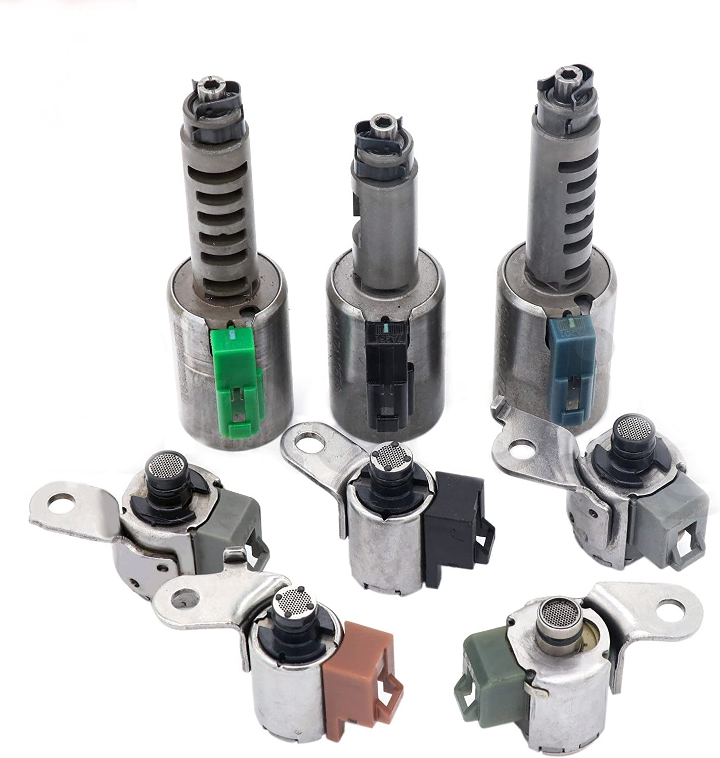 AW55-50SN AW55-51SN AF33-5 AW235 RE5F22A Solenoids Set Transmission for Volvo Nissan Saab Alfa Chevy 8pcs
