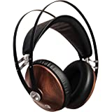 Meze 99 Classics Walnut Silver | Wired Over-Ear Headphones with Mic and Self Adjustable Headband | Classic Wooden Closed-Back