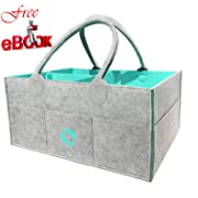 Baby Diaper Caddy Organizer - Nursery Storage Bin for Diapers,Baby Wipes, Kid Toys Bag| Large Portable Car Travel Organizer | Baby Shower Gift Basket