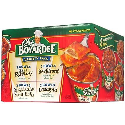 Chef Boyardee - Pack de pasta para microondas, 4 sabores ea ...