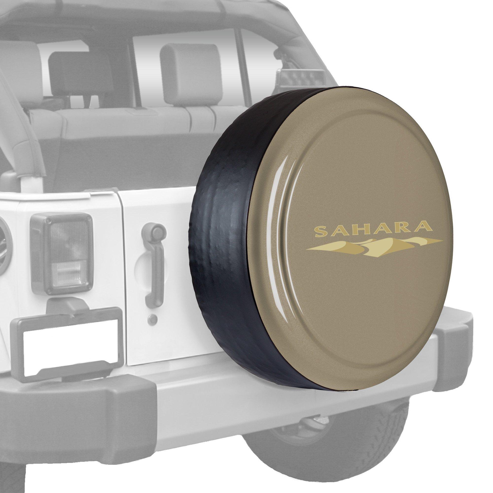 Jeep Wrangler Sahara (JK) - 32'' Color Matched Rigid Tire Cover (Plastic Face & Vinyl Band) - Gobi