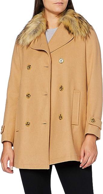 United Colors of Benetton Coat Abrigo, Beige (Camel 193), 44 (Talla del Fabricante: 48) para Mujer