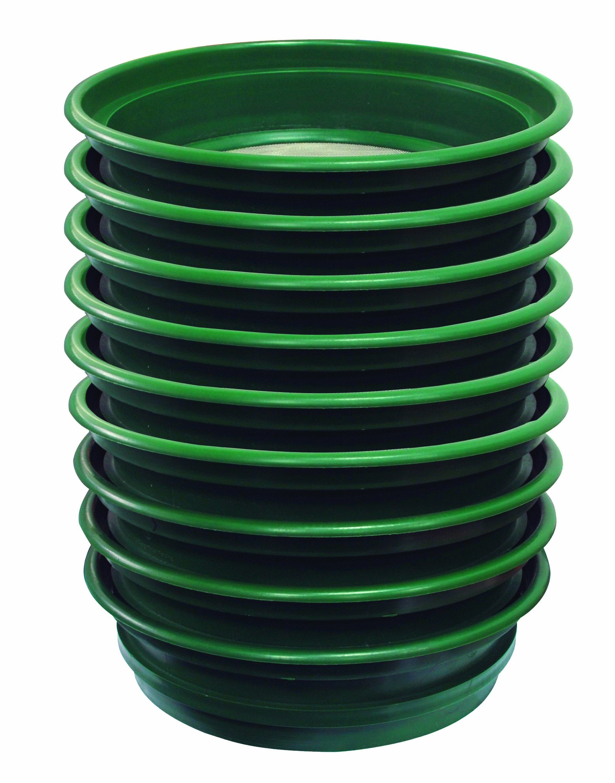 SE GP2-12 Patented Stackable 13-1//4 Sifting Pan Mesh Size 1//2