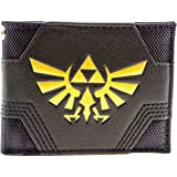 Nintendo Zelda Textured Gold Triforce Black ID & Card Bi-Fold Wallet