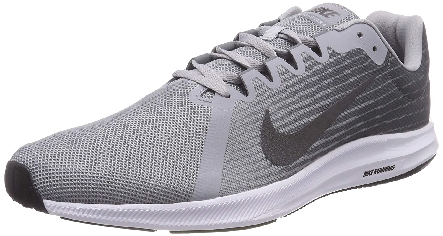 Amazon.com | NIKE Mens Downshifter 8 Running Shoe, Wolf Metallic Dark Cool Grey, 8.5 Regular US | Road Running