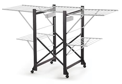 Arredamenti Italia Tendedero GABBIANO, madera - Plegable - Extensible - 30 m para tender -
