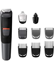 Philips MG5720/15 - Recortadora para barba 9 en 1, pequeños detalles, vello, nariz y orejas, cortapelos cara, cabeza